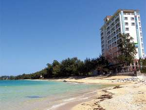 「青い海」「白い砂浜」